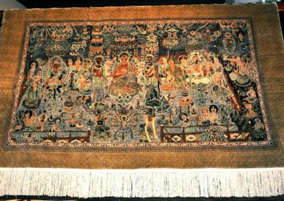 CHINESE AMITABHA  SHRINE  silk & wool