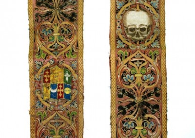 PAIR OF 16 CENTURY ORFROI with skulls