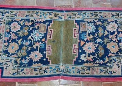 TIBETAN SADDLE CARPET  early 19 cent.