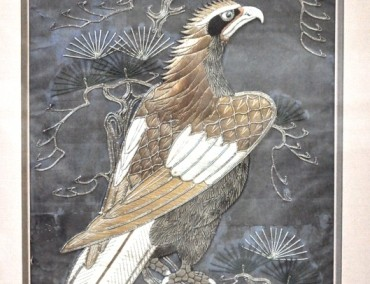 PAIR OF RELIEF FALCON JAPAN 19 TH.