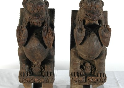 WOOD STRUTS  from indra shrine ,  nepal 17 cent.