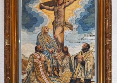 RARE  CRUXIFIXION TEXTILE  CHRIST