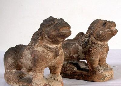 STONE LIONS similar at  entrance of  patan